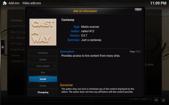 install castaway